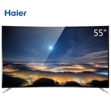 海尔(haier) lq55al88y51 55英寸 4k高清 曲面 彩电 网络智能 黑
