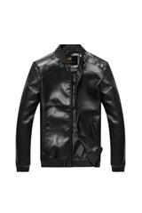 富貴鳥 FUGUINIAO 男裝夾克男短款皮衣商務休閑機車外套 16030FGP18(黑色 M)