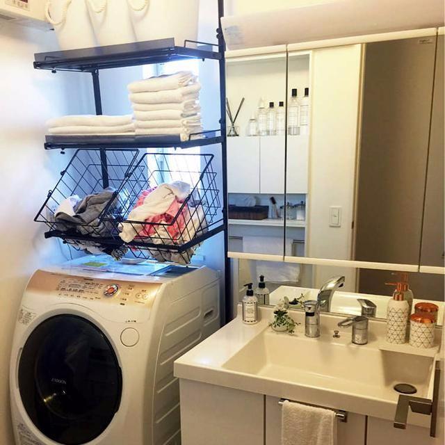 别浪费!洗衣机上方也可做收纳