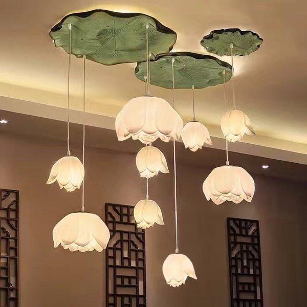 这组荷花灯具,打造寻遍四海八荒都不能描述的美